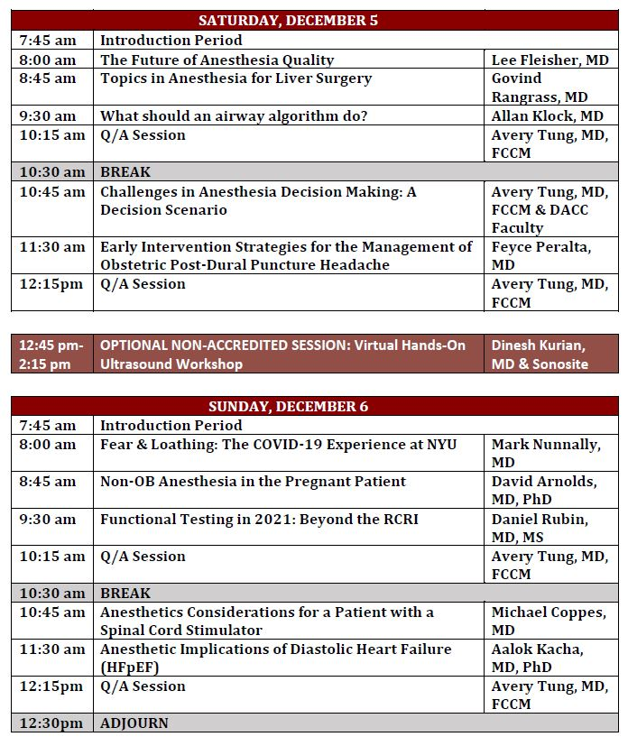 34th Annual Challenges for Clinicians Agenda