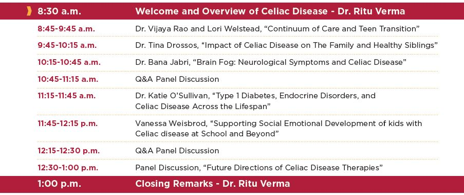 Celiac Disease and Continuum of Care Agenda