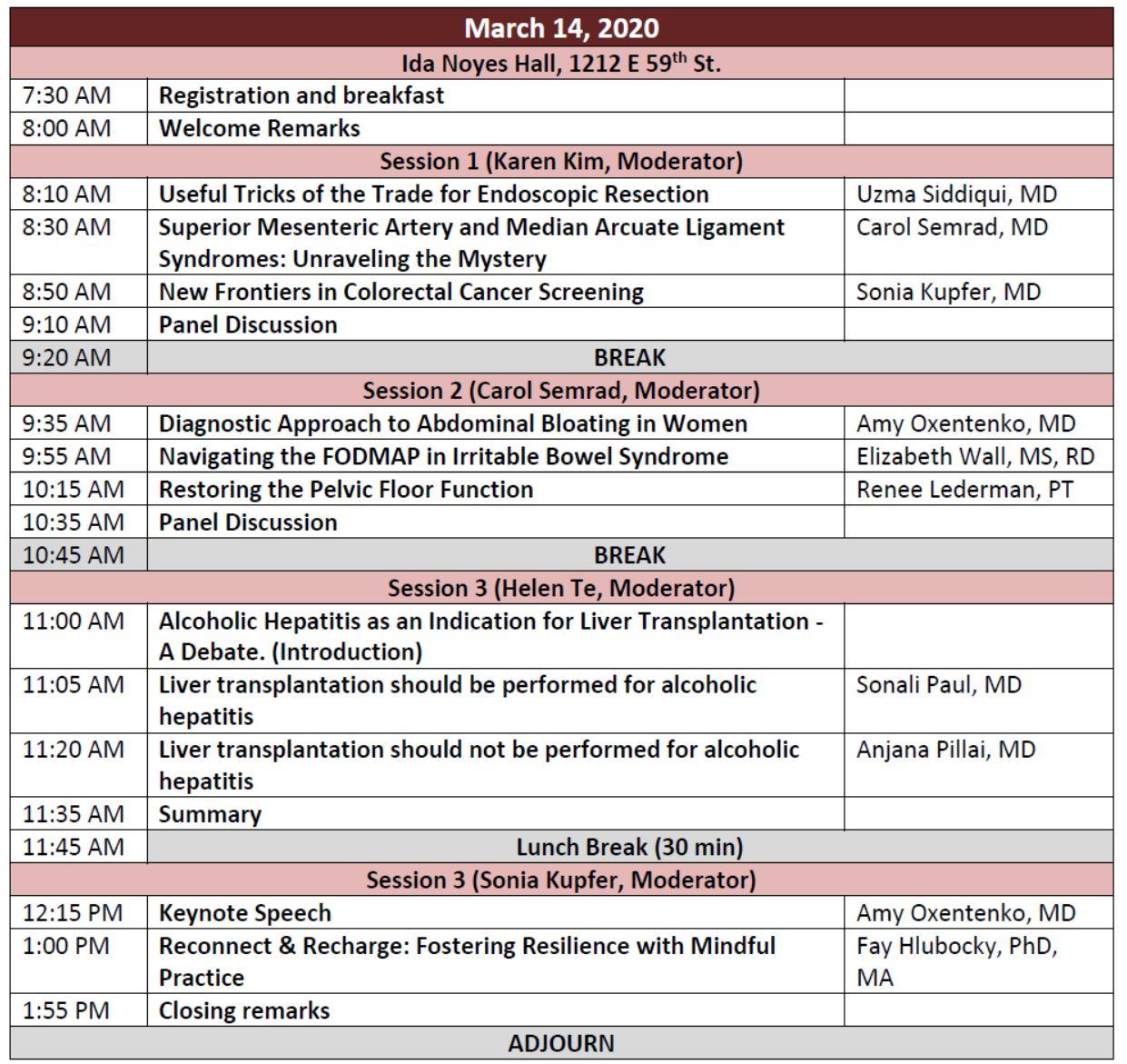 Women in Digestive Diseases: Updates in 2020 Agenda
