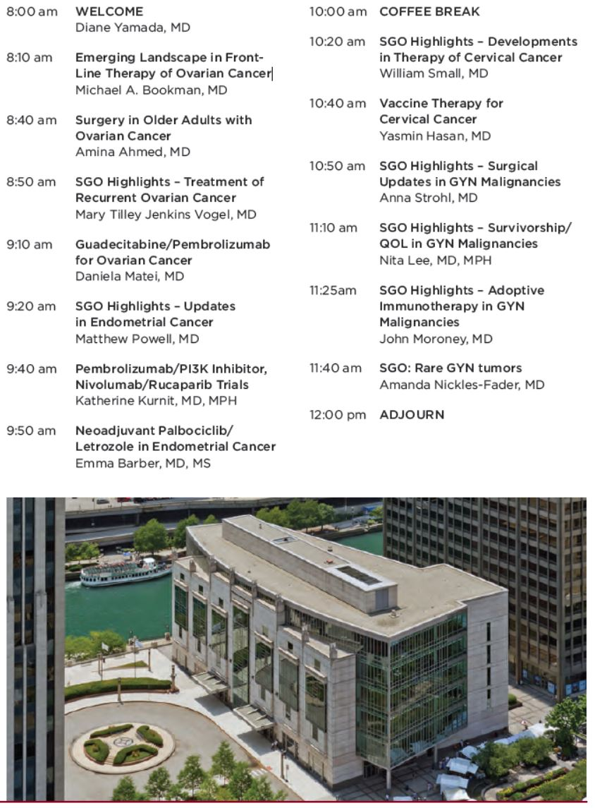 Chicago GYN Oncology Updates Agenda