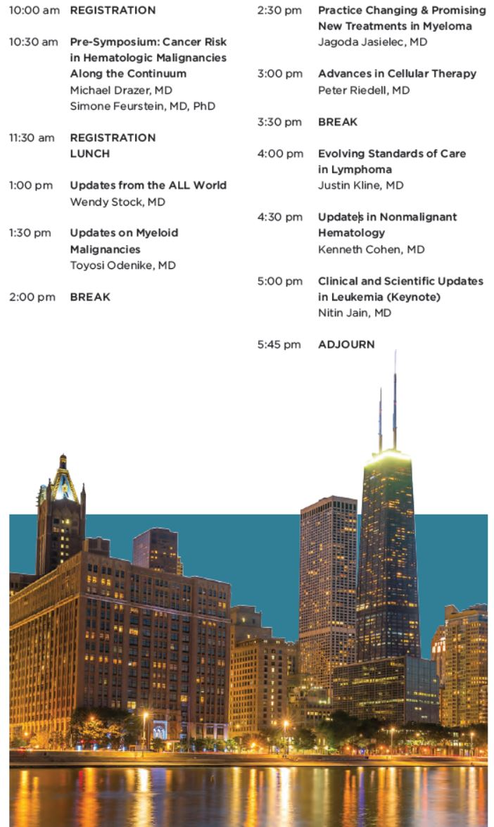 Annual Updates from ASH 2019: Practice Changing Abstracts Agenda