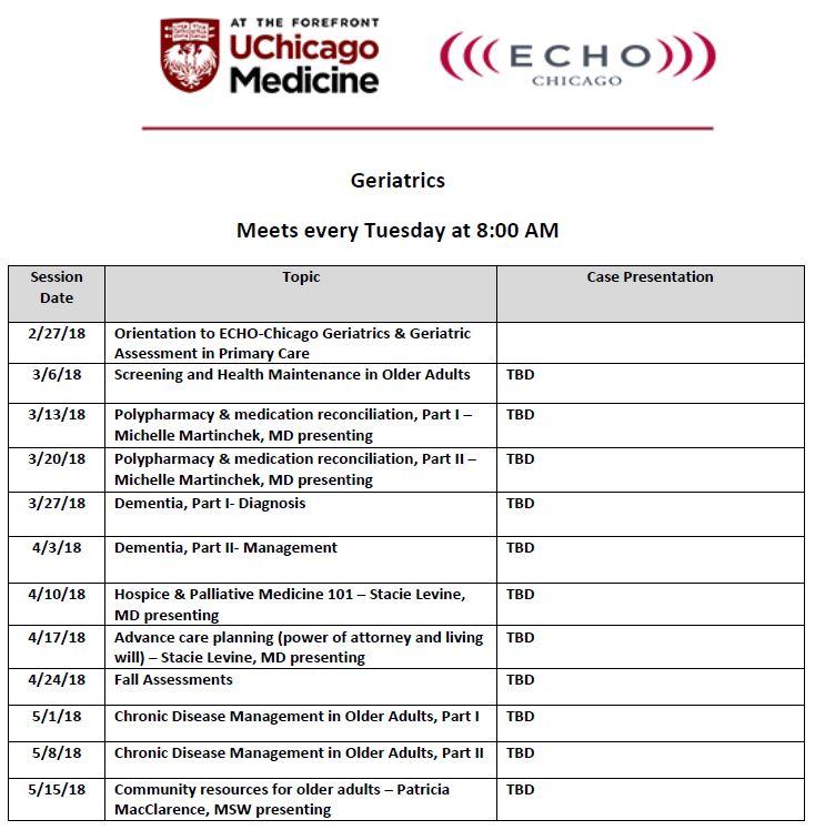 ECHO-Chicago Geriatrics
