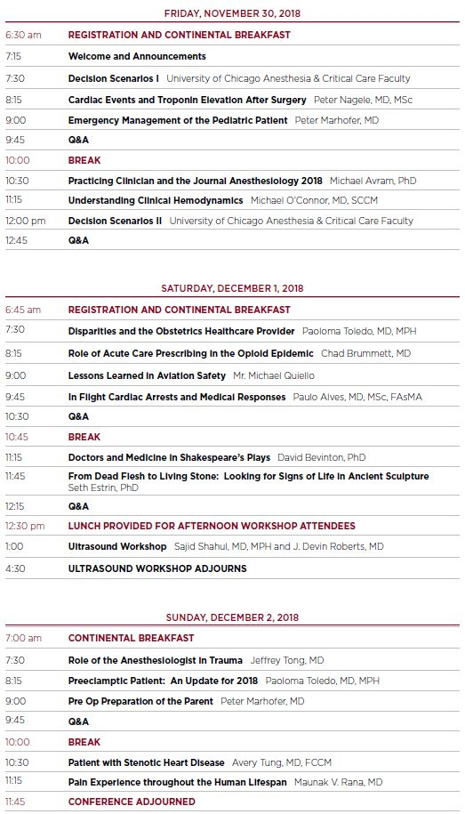 32nd Annual Conference: Challenges for Clinicians Schedule