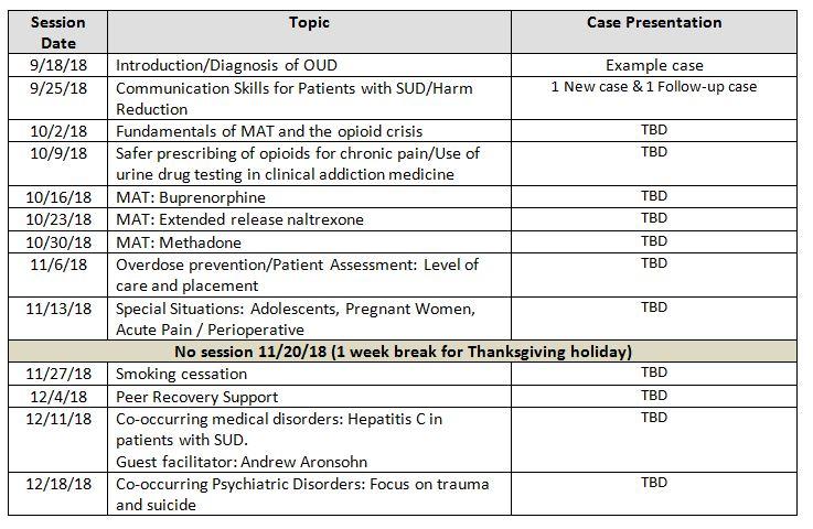 ECHO-Chicago: Opioid Use Disorder Schedule