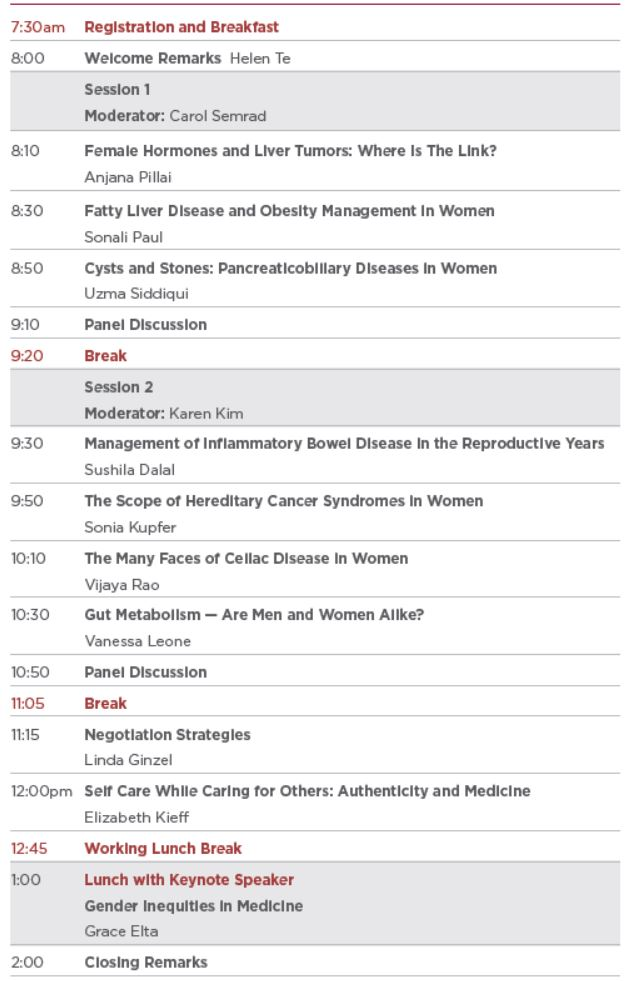 Women in Digestive Diseases: At the Forefront Agenda