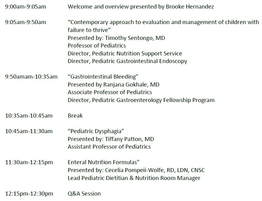 Clinical Pearls in Pediatric Gastroenterology for the Primary Care Physician Agenda