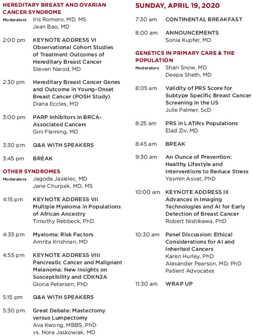 Genetics in Clinical Cancer Care: From Family Reunions to the Frontline of Developmental Therapeutics Schedule