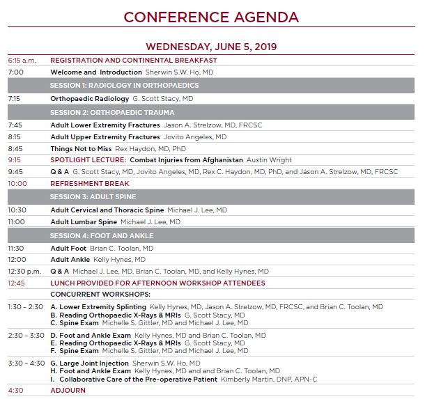 25th Annual Primary Care Orthopaedics | Center for